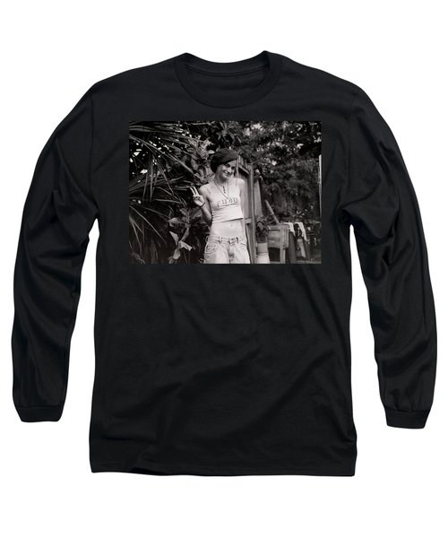 Long Sleeve T-Shirt featuring the photograph Peace Chick by Greg Allore