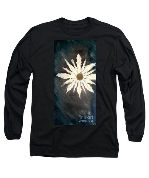 Long Sleeve T-Shirt featuring the painting Peace Flower by Jacqueline McReynolds