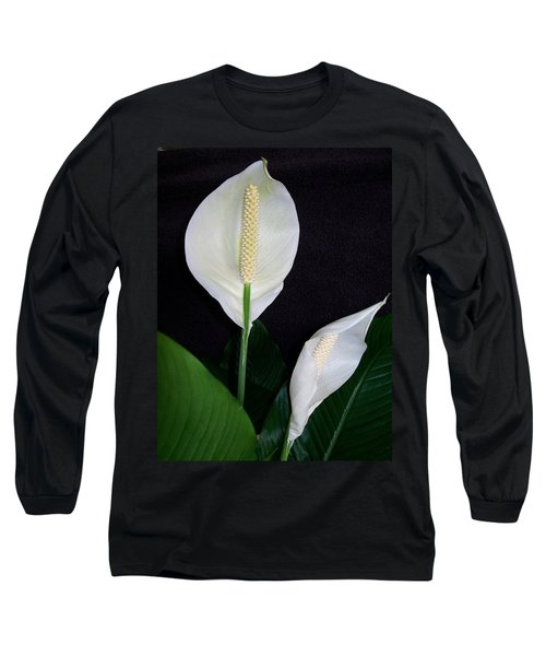 Peace Lilies Long Sleeve T-Shirt by Sharon Duguay