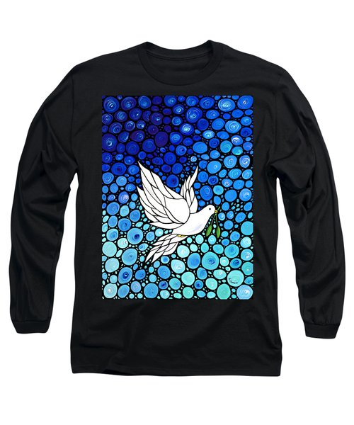 Peaceful Journey - White Dove Peace Art Long Sleeve T-Shirt