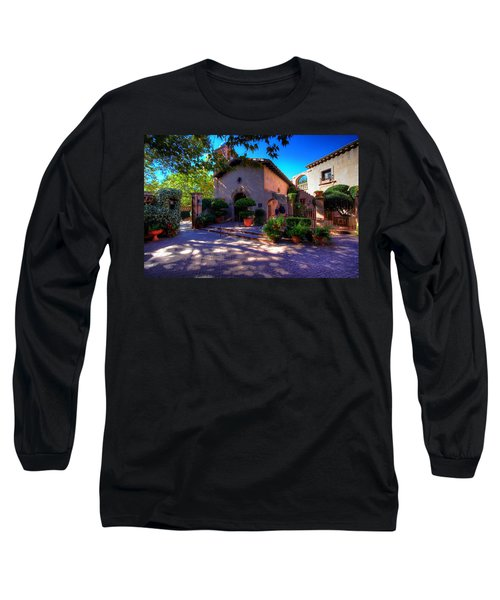 Peaceful Plaza Long Sleeve T-Shirt by Dave Files