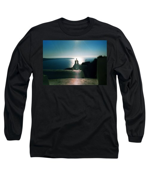Long Sleeve T-Shirt featuring the photograph Peaceful Sunset Santorini Island Greece by Colette V Hera  Guggenheim