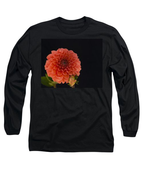 Peach Dahlia Long Sleeve T-Shirt