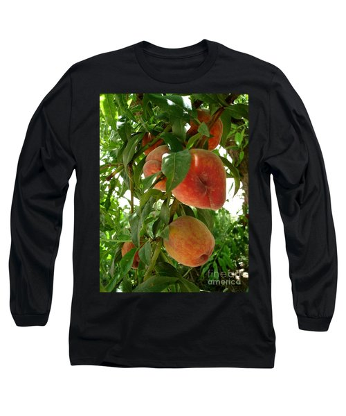 Long Sleeve T-Shirt featuring the photograph Peaches On The Tree by Kerri Mortenson