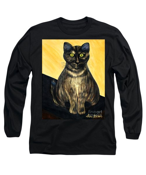 Long Sleeve T-Shirt featuring the painting Pearl. Soul Collection by Oksana Semenchenko