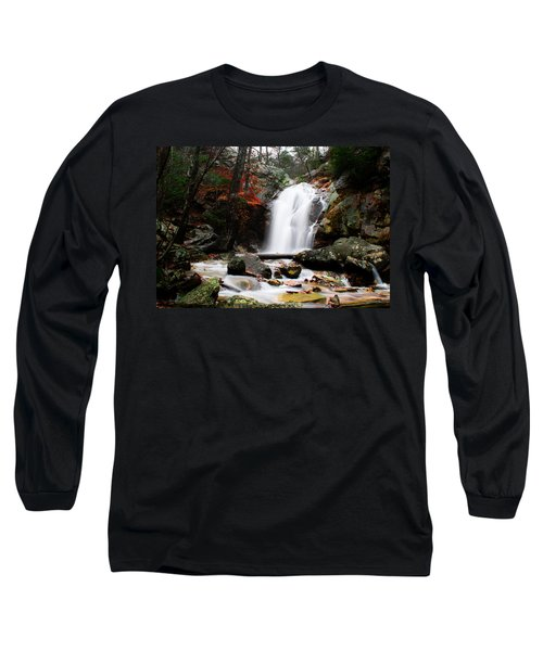 Peavine Falls In Autumn Long Sleeve T-Shirt by Shelby  Young
