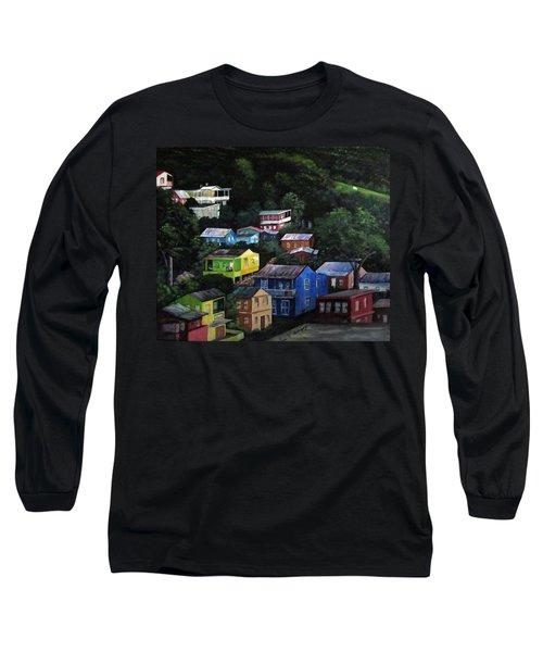 Pedazito De Yauco Cerro Long Sleeve T-Shirt by Luis F Rodriguez