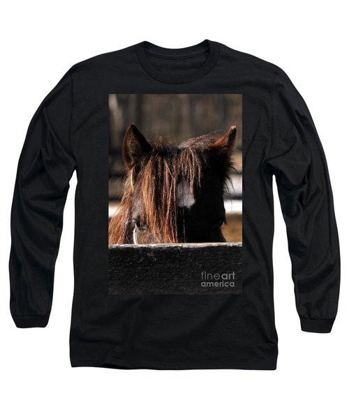 Peek-a-boo Pony Long Sleeve T-Shirt