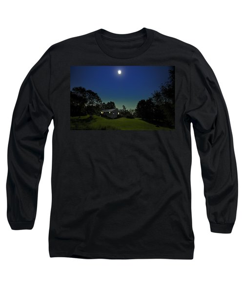 Long Sleeve T-Shirt featuring the photograph Pegasus And Moon by Greg Reed