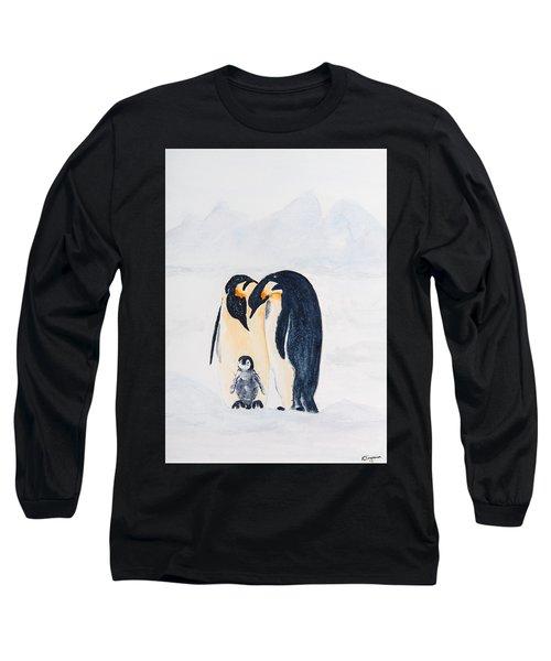 Penguin Family Long Sleeve T-Shirt by Elvira Ingram