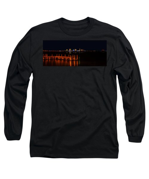 Pensacola Beach Reflections Long Sleeve T-Shirt