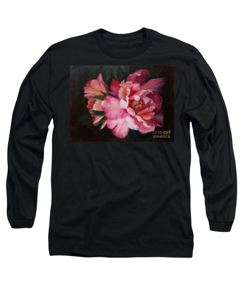 Peonies No 8 The Painting Long Sleeve T-Shirt by Marlene Book
