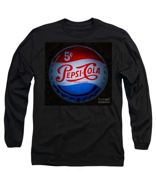 Pepsi Cap Sign Long Sleeve T-Shirt by Mitch Shindelbower