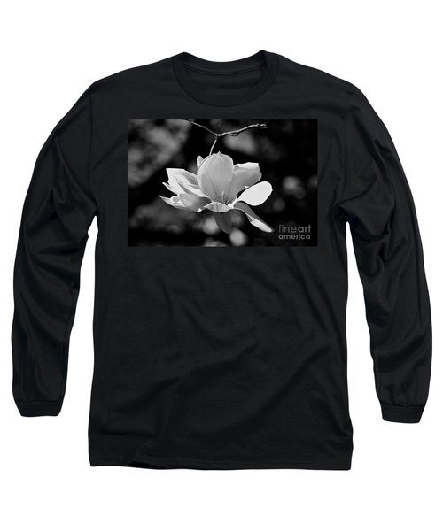 Perfect Bloom Magnolia In White Long Sleeve T-Shirt