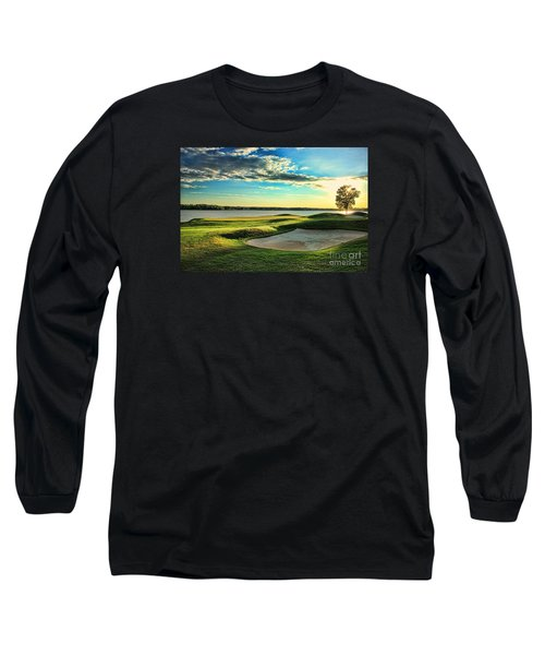 Perfect Golf Sunset Long Sleeve T-Shirt by Reid Callaway