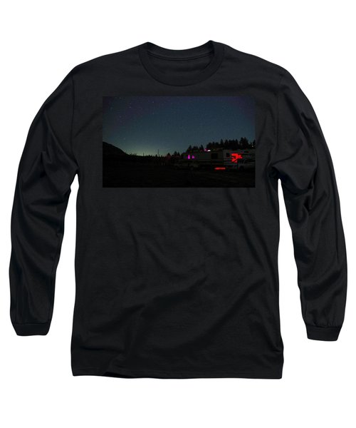 Perseid Meteor-julian Night Lights Long Sleeve T-Shirt
