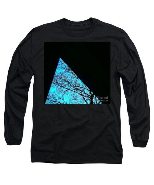 Blue Triangle Long Sleeve T-Shirt