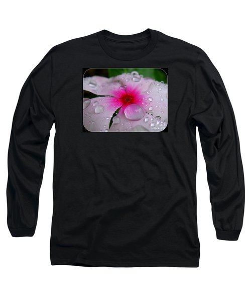 Long Sleeve T-Shirt featuring the photograph Petal Surfing by Patti Whitten