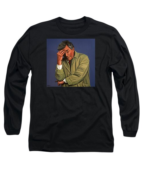 Peter Falk As Columbo Long Sleeve T-Shirt