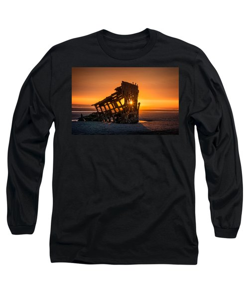 Peter Iredale Ship Long Sleeve T-Shirt by James Hammond
