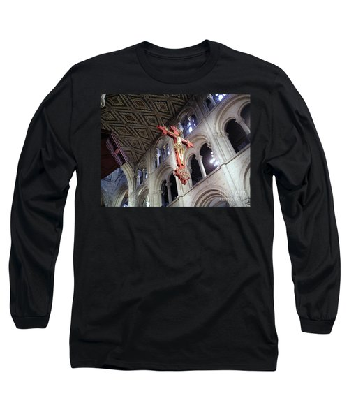 Long Sleeve T-Shirt featuring the photograph Peterborough Cathedral England by Jolanta Anna Karolska
