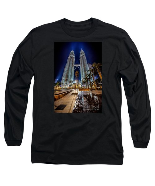Petronas Twin Towers Long Sleeve T-Shirt by Adrian Evans