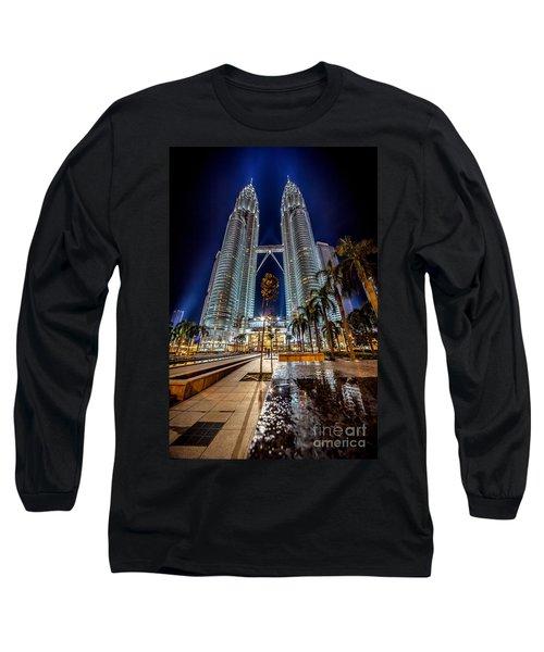 Petronas Twin Towers Long Sleeve T-Shirt