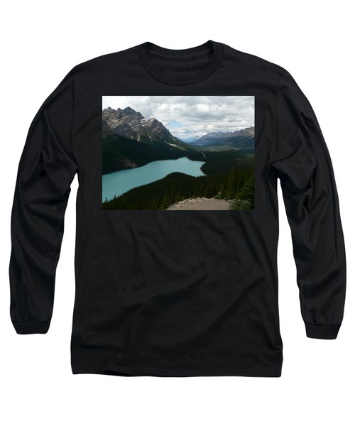 Peyote Lake In Banff Alberta Long Sleeve T-Shirt