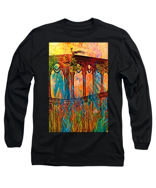 Phantom Fires Long Sleeve T-Shirt by Ally  White