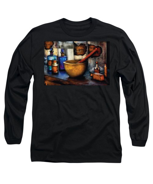 Pharmacist - Mortar And Pestle Long Sleeve T-Shirt by Mike Savad