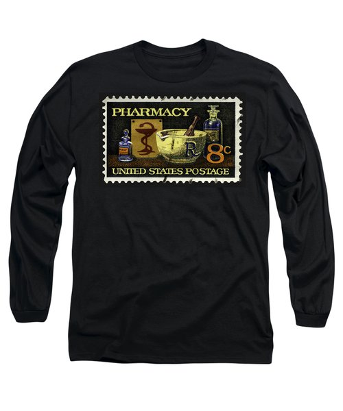 Pharmacy Stamp With Bowl Of Hygeia Long Sleeve T-Shirt