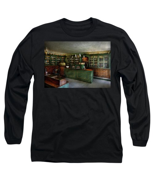 Pharmacy - The Chemist Shop  Long Sleeve T-Shirt by Mike Savad
