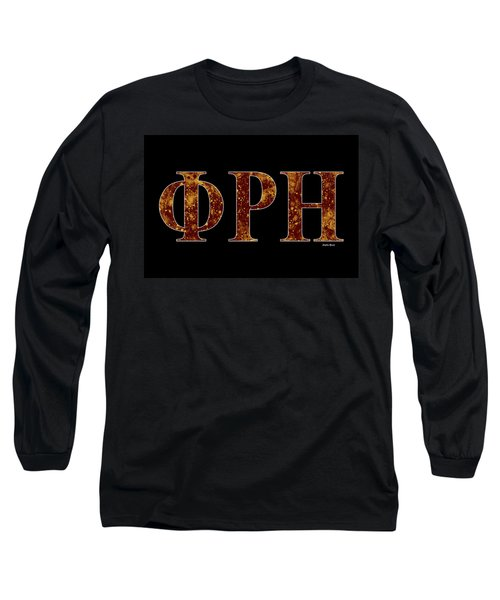 Long Sleeve T-Shirt featuring the digital art Phi Rho Eta - Black by Stephen Younts