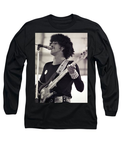 Phil Lynott Of Thin Lizzy Black Rose Tour At Day On The Green 4th Of July 1979 - Unreleased  Long Sleeve T-Shirt