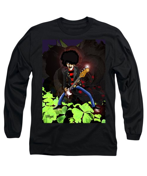 Phil Lynott Of Thin Lizzy Long Sleeve T-Shirt