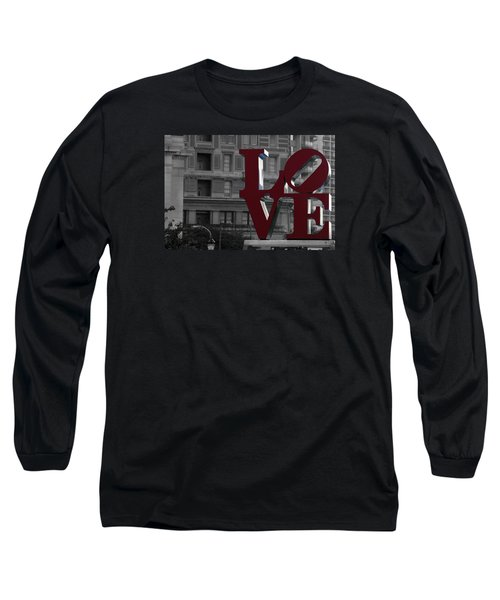 Philadelphia Love Long Sleeve T-Shirt by Terry DeLuco