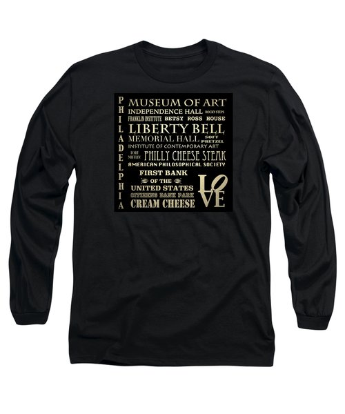 Philadelphia Pennsylvania Famous Landmarks Long Sleeve T-Shirt