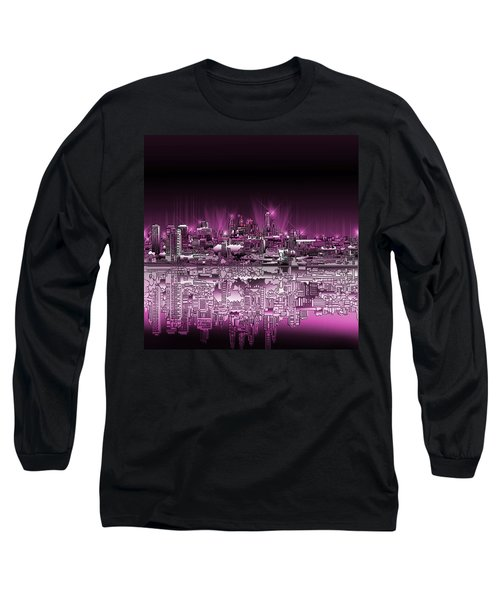 Philadelphia Skyline  Gradient 2 Long Sleeve T-Shirt