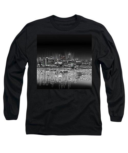 Philadelphia Skyline  Gradient Long Sleeve T-Shirt