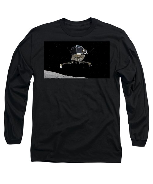Long Sleeve T-Shirt featuring the photograph Philae Lander Descending To Comet 67pc-g by Science Source