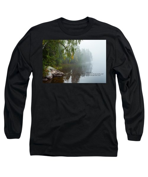 Long Sleeve T-Shirt featuring the photograph Philippians 4 Verse 7 by Rose-Maries Pictures