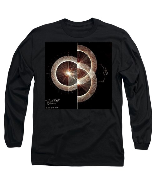 Photon Double Slit Test Hand Drawn Long Sleeve T-Shirt