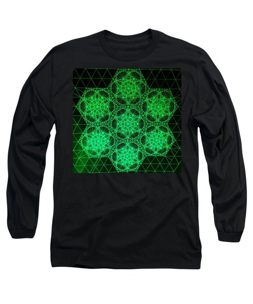 Photon Interference Fractal Long Sleeve T-Shirt