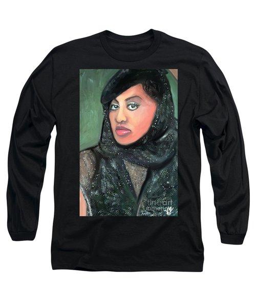 Long Sleeve T-Shirt featuring the digital art Phyllis Hyman by Vannetta Ferguson