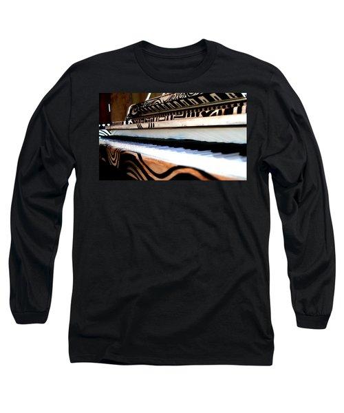 Piano In The Dark - Music By Diana Sainz Long Sleeve T-Shirt