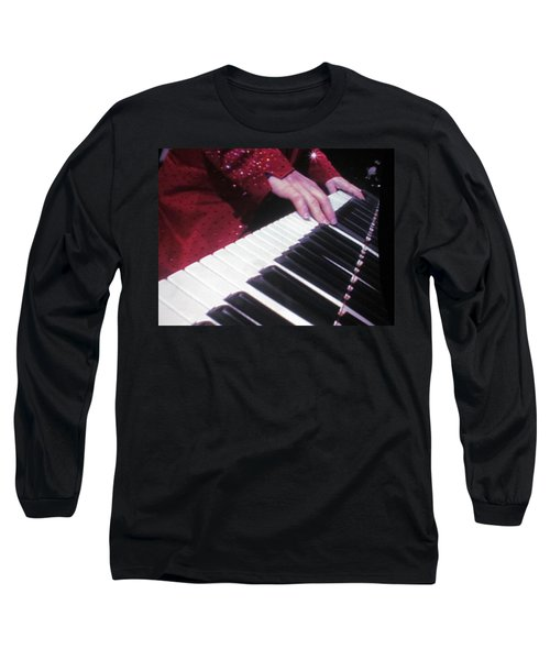 Piano Man At Work Long Sleeve T-Shirt