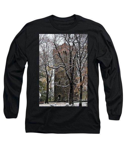 Piastowska Tower In Cieszyn Long Sleeve T-Shirt by Mariola Bitner