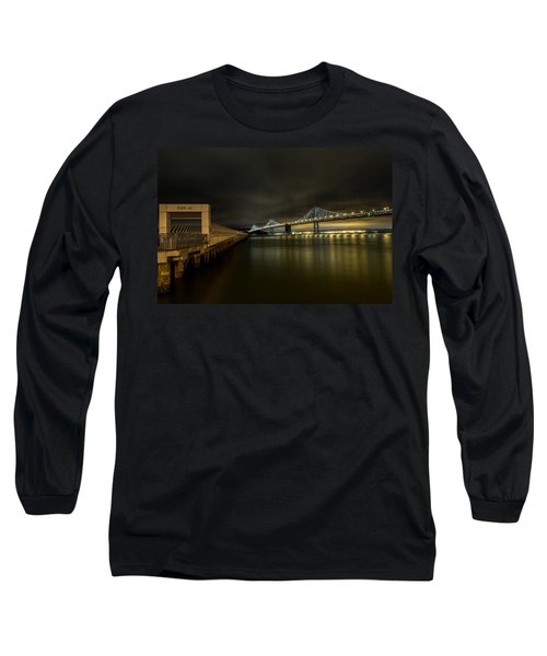 Pier 14 And Bay Bridge At Night Long Sleeve T-Shirt