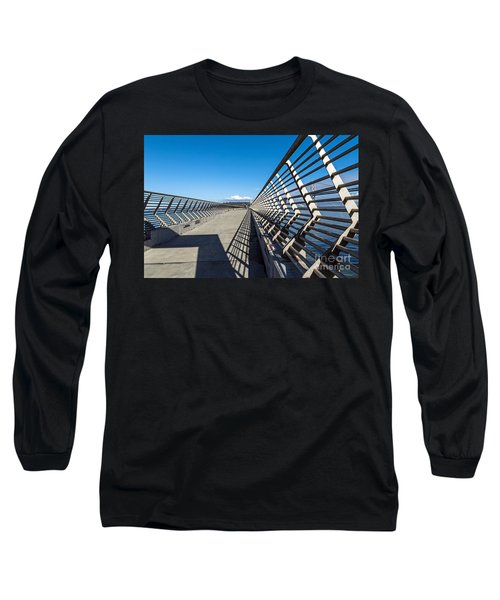 Long Sleeve T-Shirt featuring the photograph Pier Perspective by Kate Brown