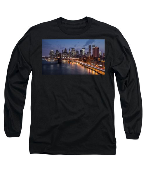 Long Sleeve T-Shirt featuring the photograph Piercing Manhattan by Mihai Andritoiu